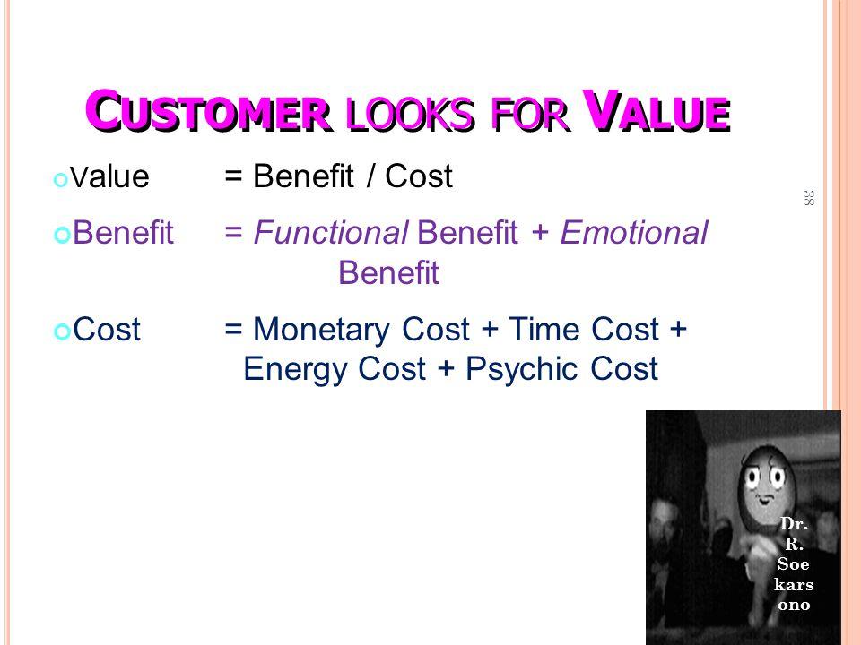 Customer looks for Value