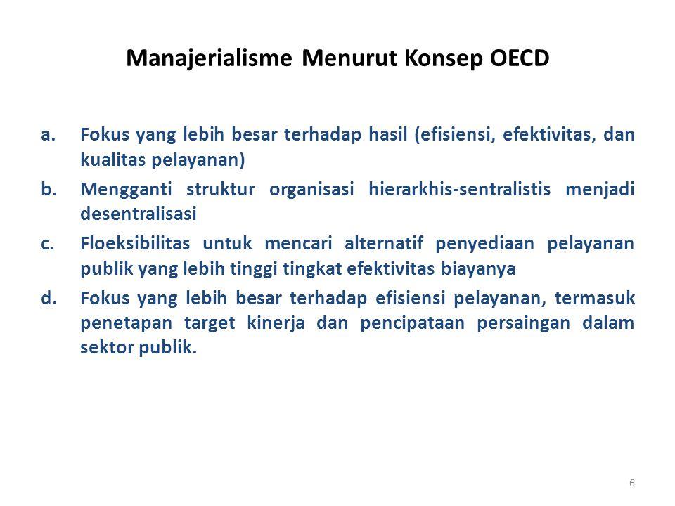 Manajerialisme Menurut Konsep OECD