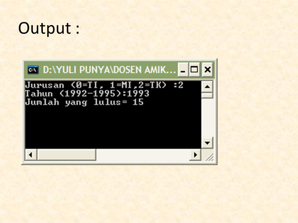 Output :