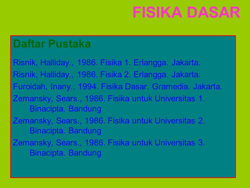 FISIKA DASAR Daftar Pustaka