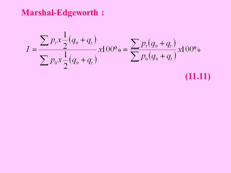 Marshal-Edgeworth : (11.11)