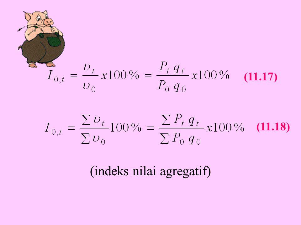 (indeks nilai agregatif)