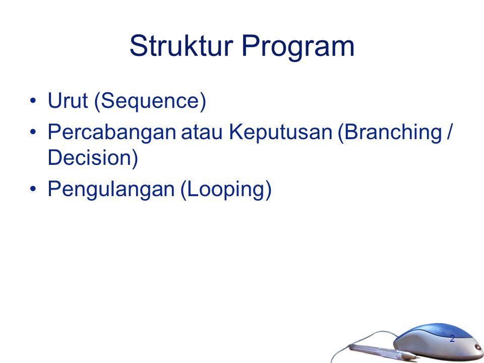 Struktur Program Urut (Sequence)
