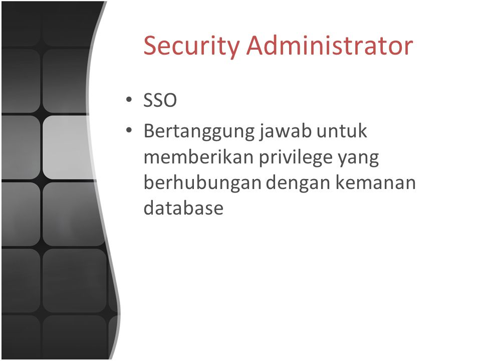 Security Administrator