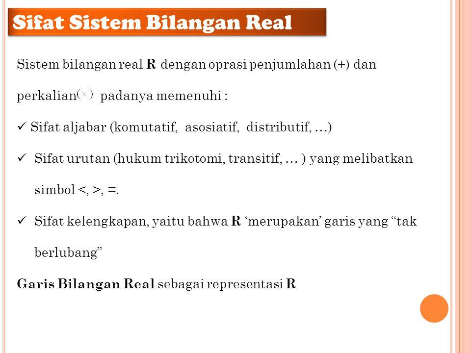 Sifat Sistem Bilangan Real