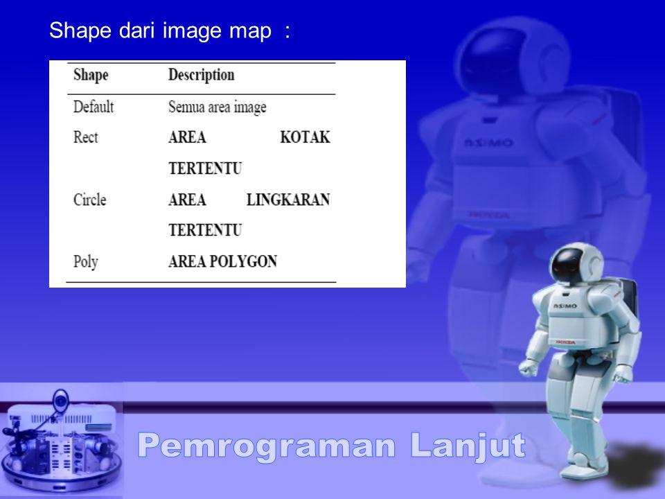 Shape dari image map :