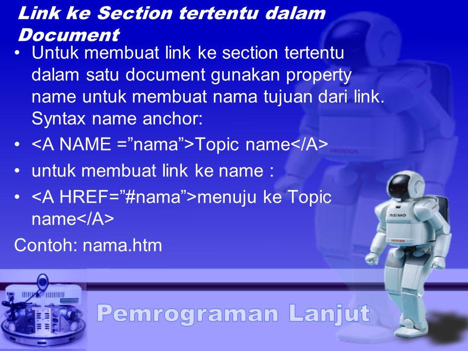 Link ke Section tertentu dalam Document