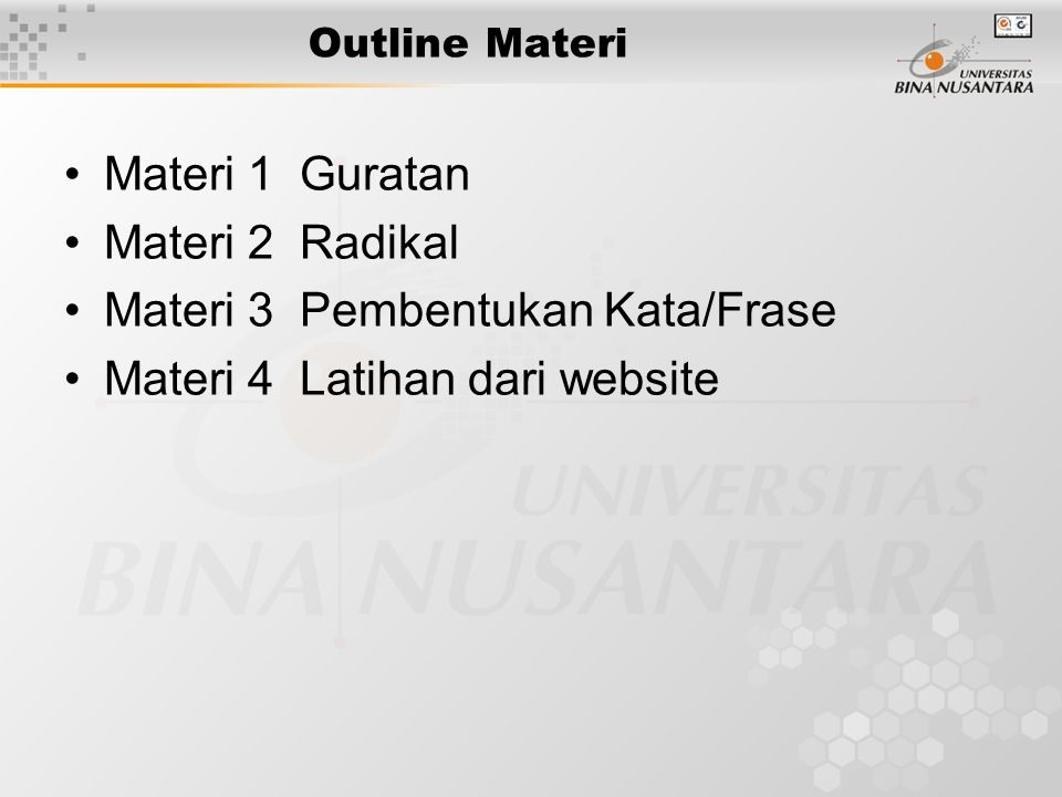 Materi 3 Pembentukan Kata/Frase Materi 4 Latihan dari website