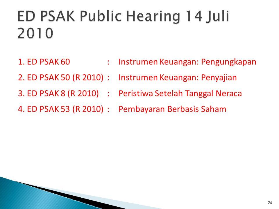 ED PSAK Public Hearing 14 Juli 2010