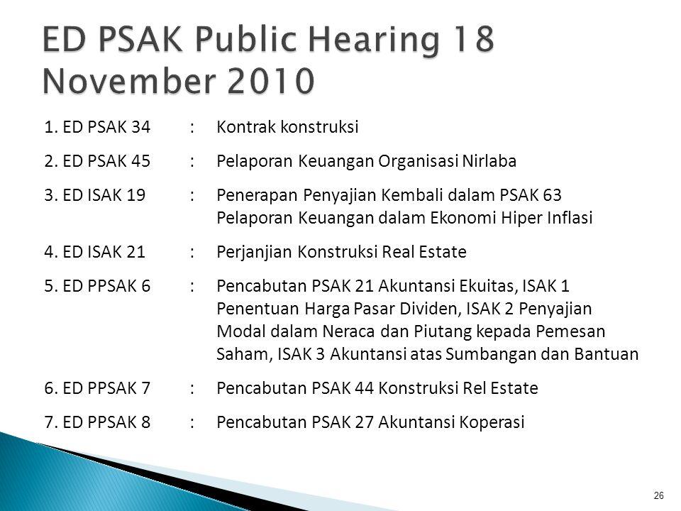 ED PSAK Public Hearing 18 November 2010