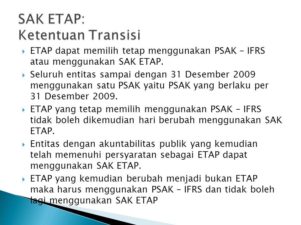 SAK ETAP: Ketentuan Transisi