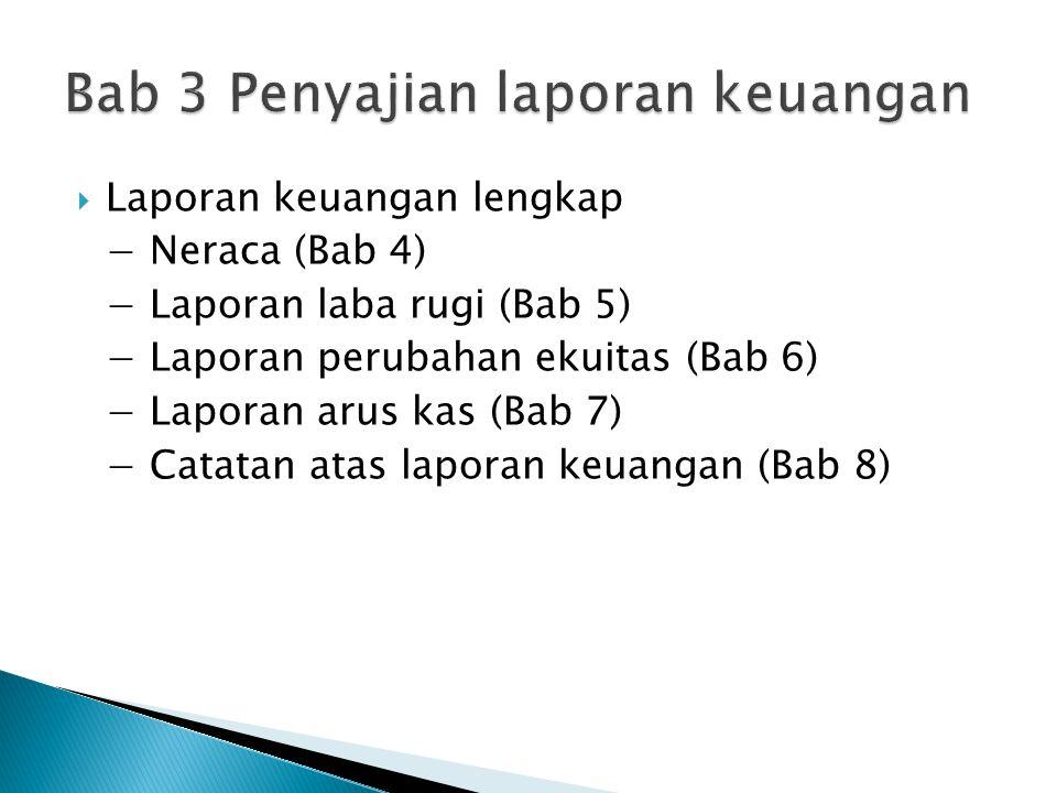 Bab 3 Penyajian laporan keuangan