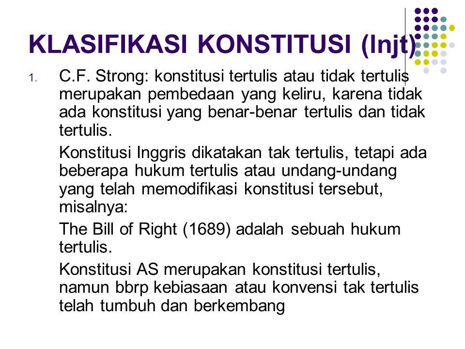KLASIFIKASI KONSTITUSI (lnjt)