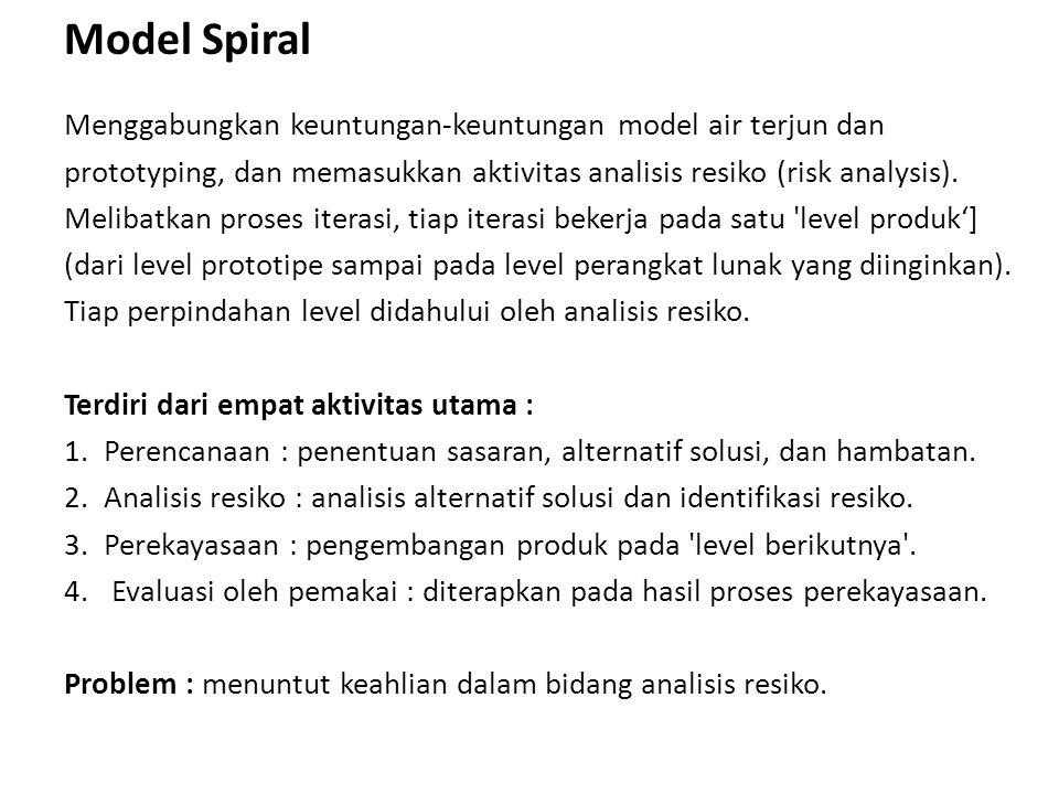 Model Spiral Menggabungkan keuntungan-keuntungan model air terjun dan