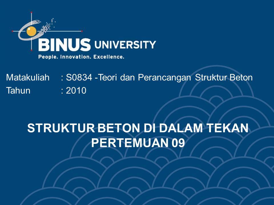 STRUKTUR BETON DI DALAM TEKAN PERTEMUAN 09