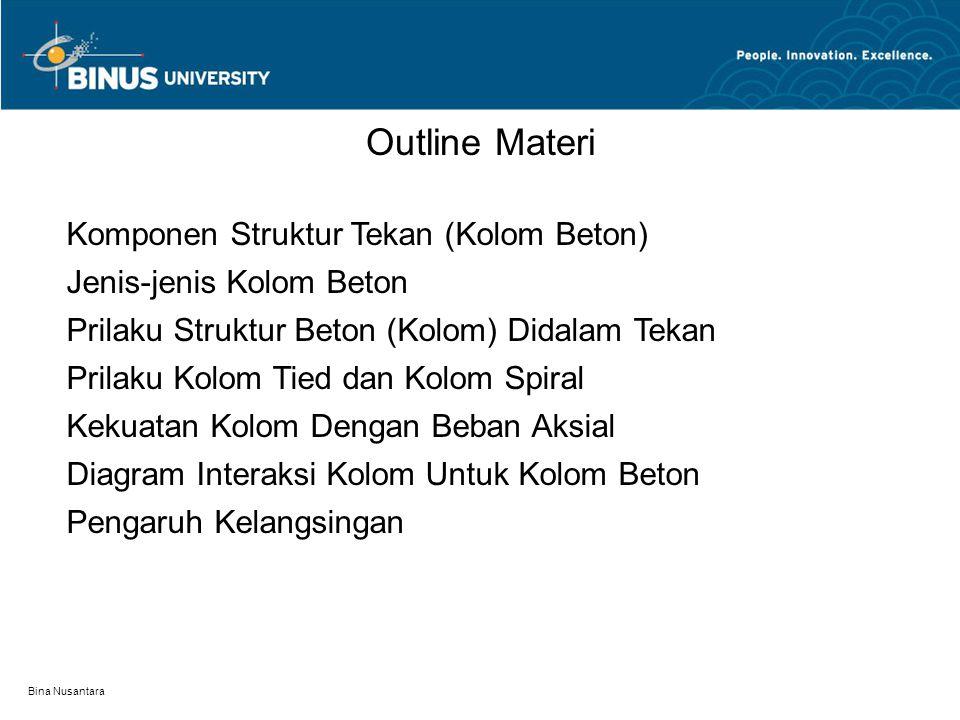 Outline Materi Komponen Struktur Tekan (Kolom Beton)