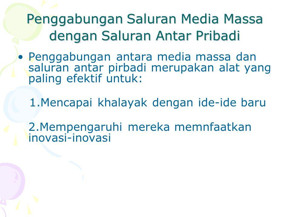 Penggabungan Saluran Media Massa dengan Saluran Antar Pribadi