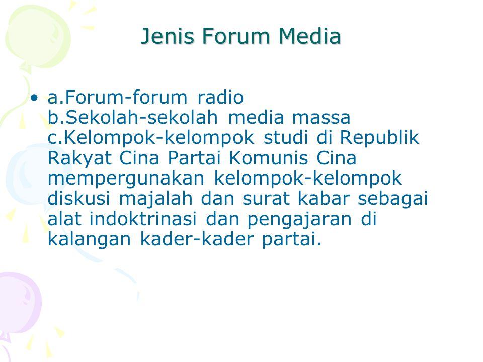 Jenis Forum Media