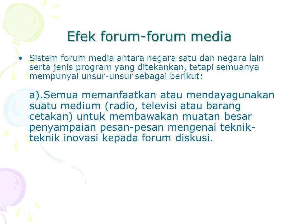 Efek forum-forum media