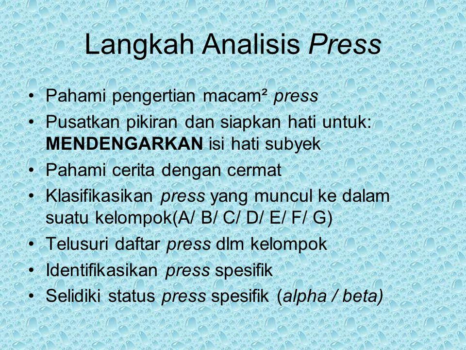 Langkah Analisis Press