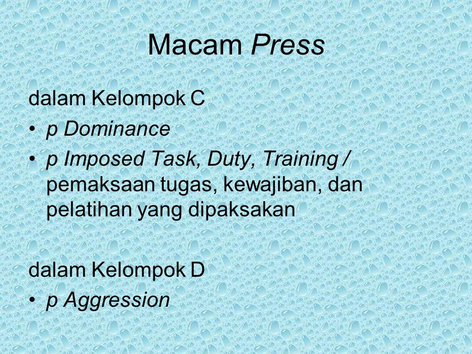 Macam Press dalam Kelompok C p Dominance