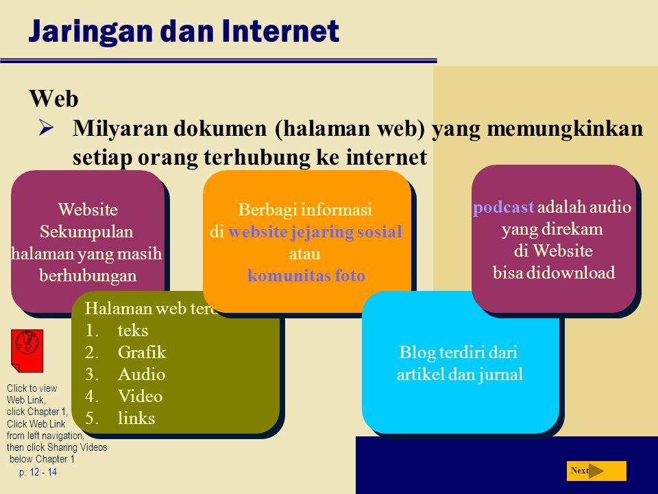 Jaringan dan Internet Web