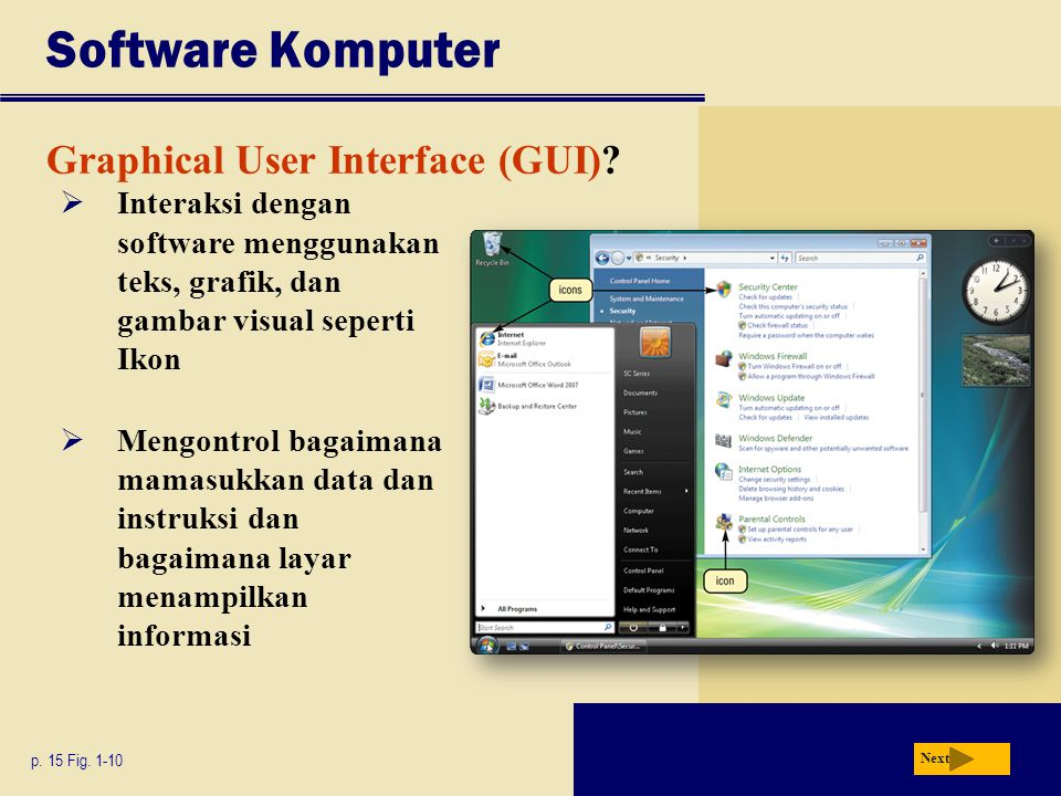 Software Komputer Graphical User Interface (GUI)
