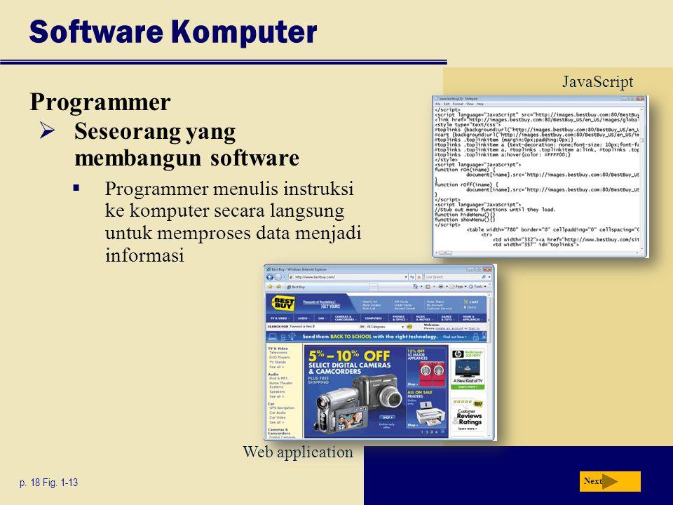 Software Komputer Programmer Seseorang yang membangun software