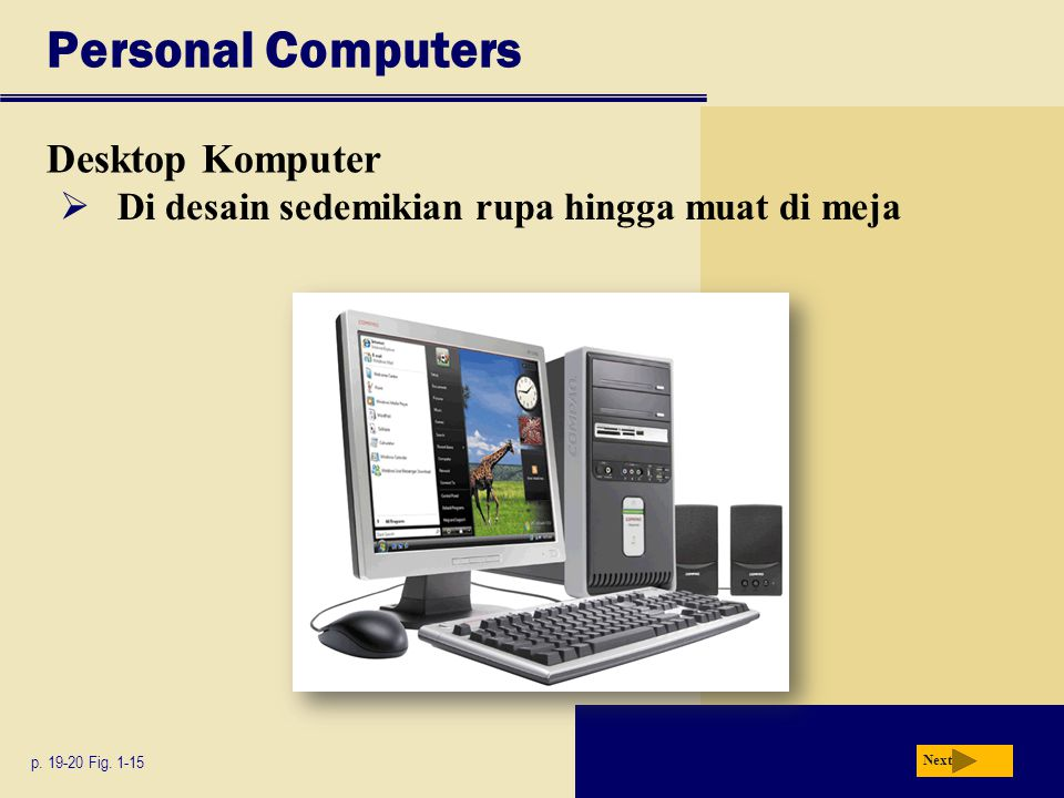 Personal Computers Desktop Komputer