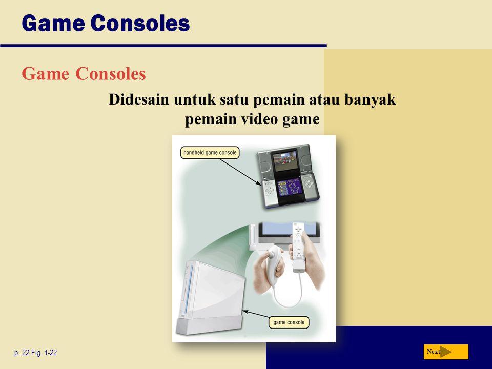 Didesain untuk satu pemain atau banyak pemain video game