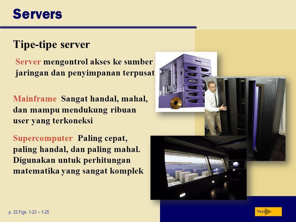 Servers Tipe-tipe server