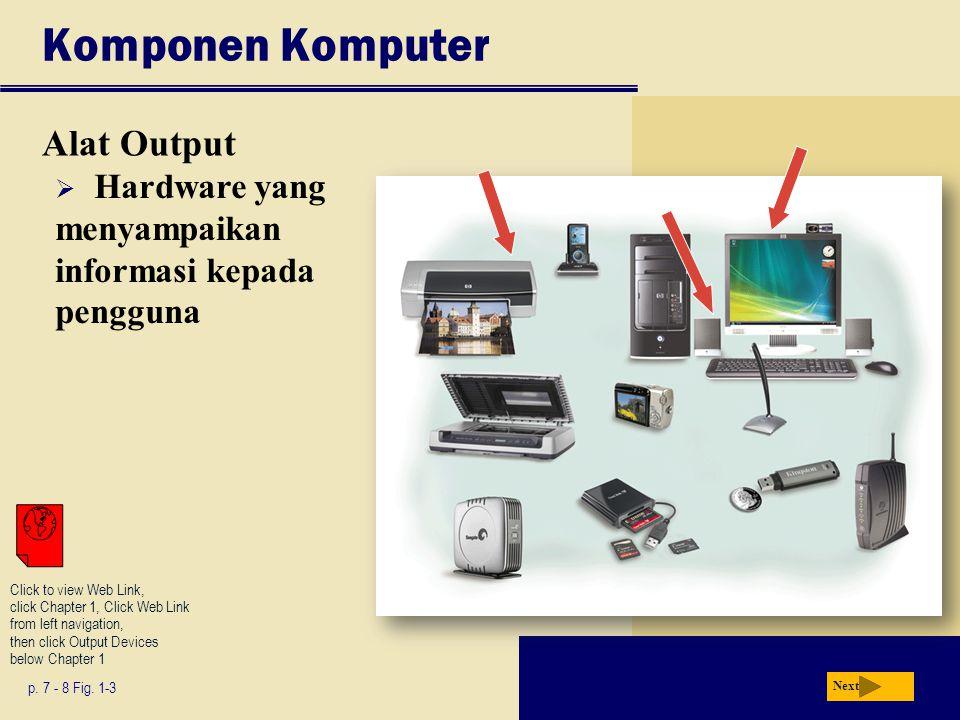 Komponen Komputer Alat Output