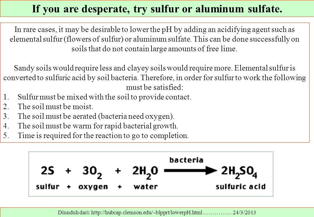 If you are desperate, try sulfur or aluminum sulfate.