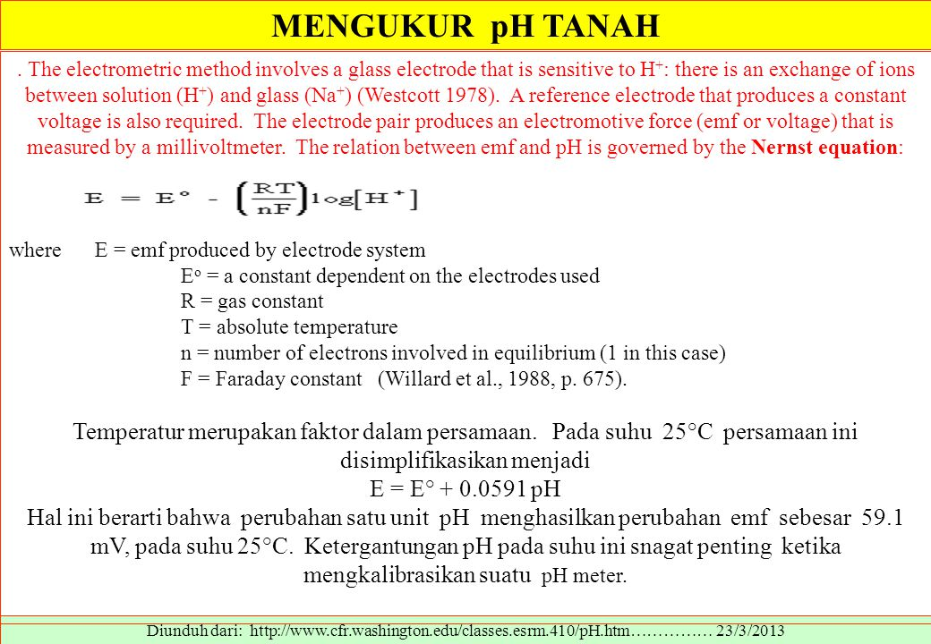 MENGUKUR pH TANAH