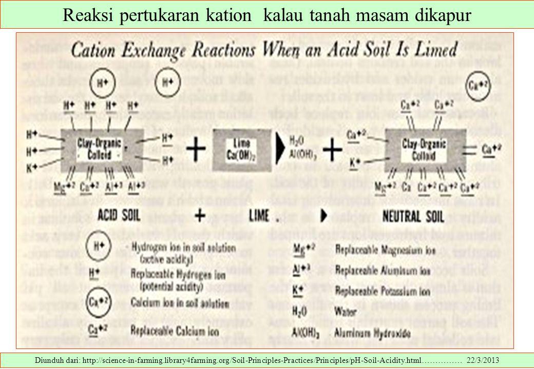 Reaksi pertukaran kation kalau tanah masam dikapur