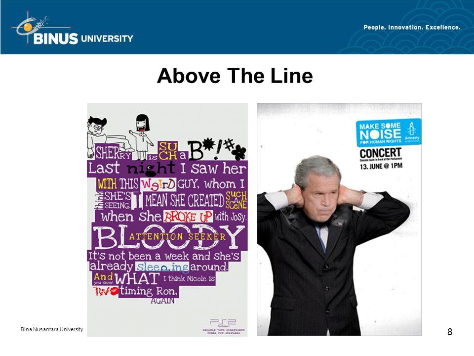 Above The Line Bina Nusantara University