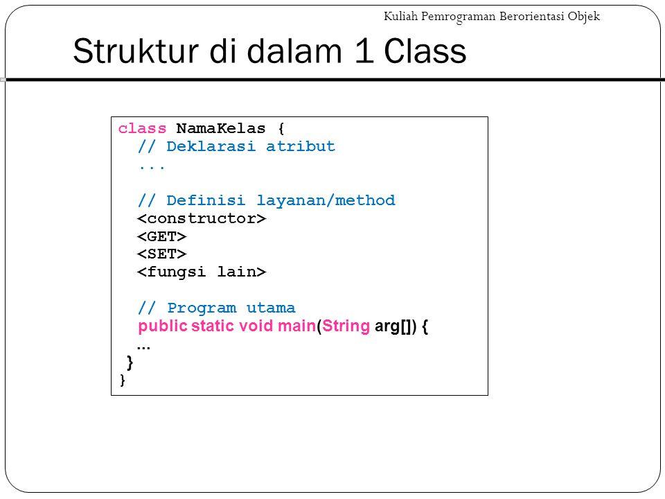 Struktur di dalam 1 Class
