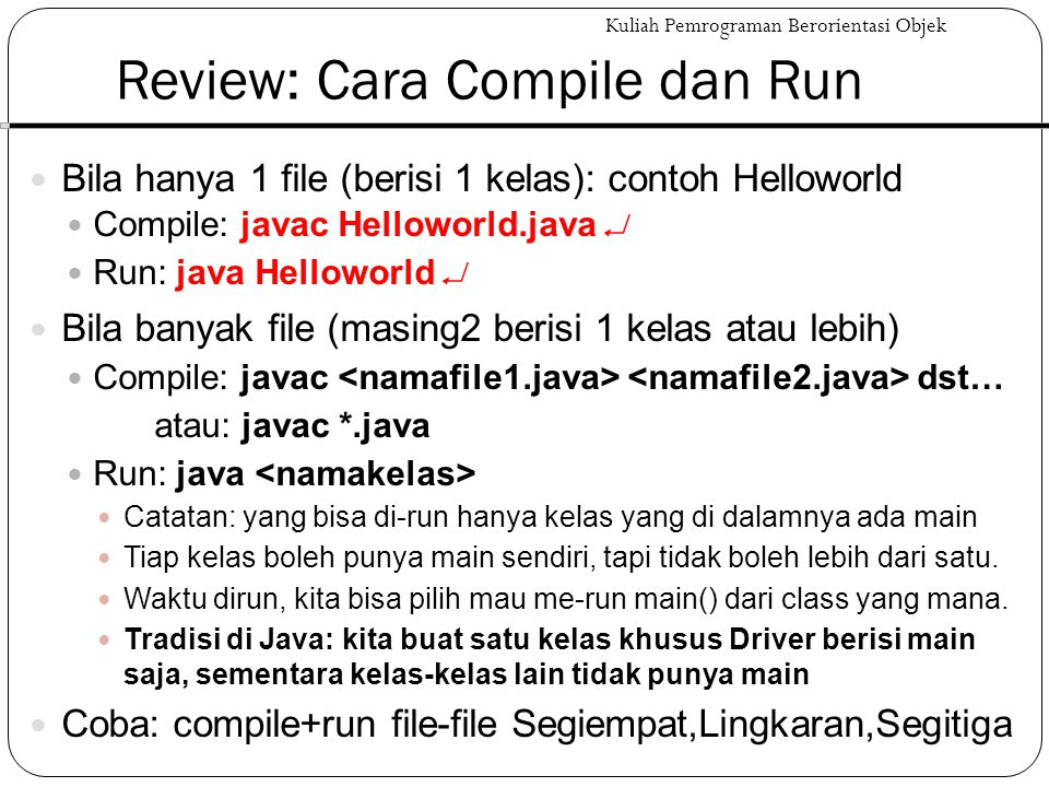 Review: Cara Compile dan Run