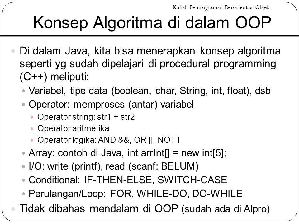 Konsep Algoritma di dalam OOP