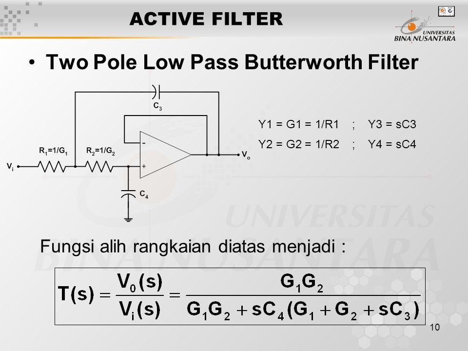 Two Pole Low Pass Butterworth Filter