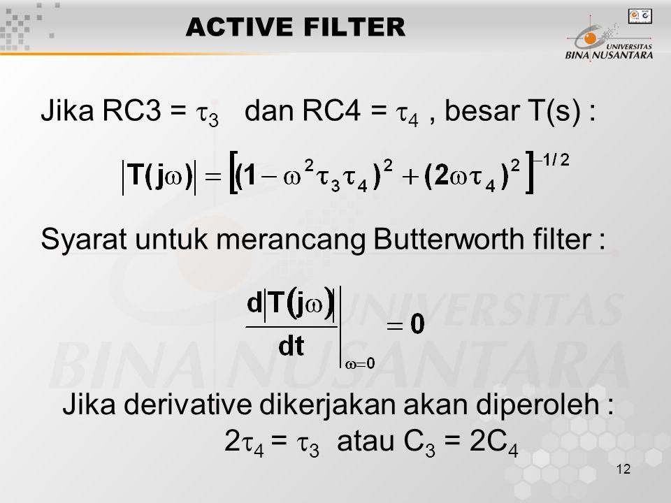 Jika derivative dikerjakan akan diperoleh :