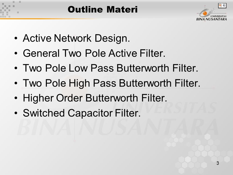 General Two Pole Active Filter. Two Pole Low Pass Butterworth Filter.