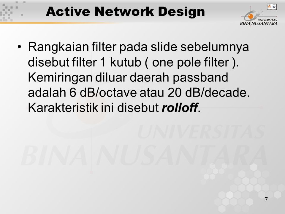 Active Network Design