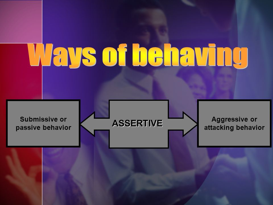 Submissive or passive behavior Aggressive or attacking behavior