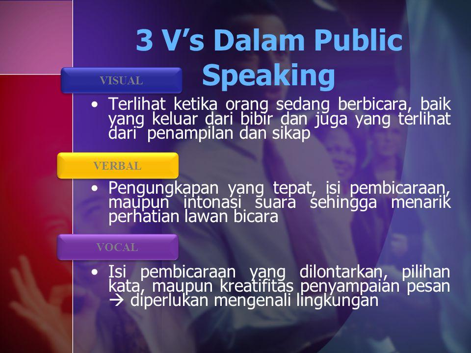 3 V's Dalam Public Speaking