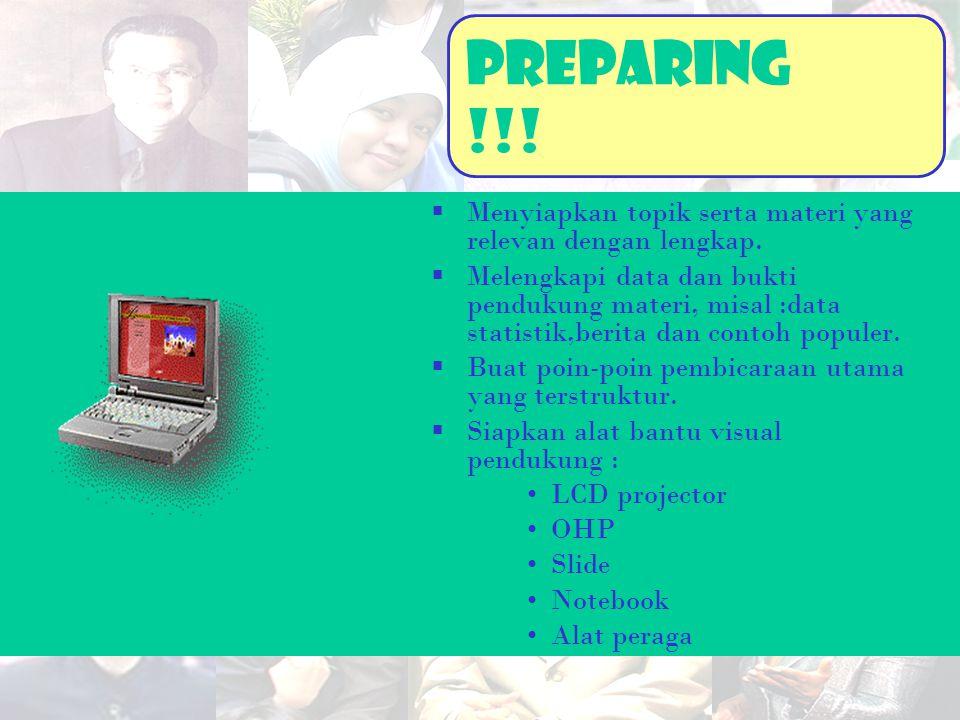 PreparinG !!! Menyiapkan topik serta materi yang relevan dengan lengkap.