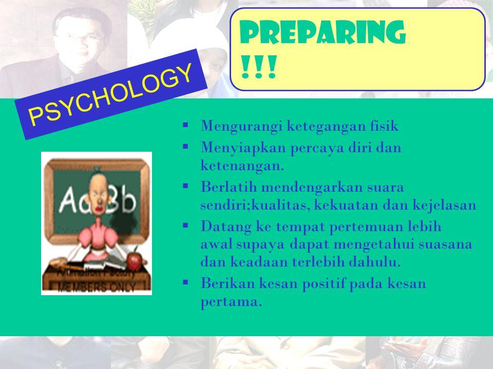 PreparinG !!! PSYCHOLOGY Mengurangi ketegangan fisik