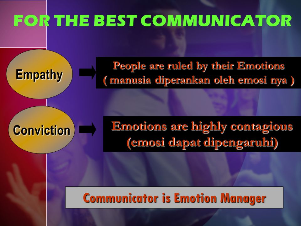 FOR THE BEST COMMUNICATOR