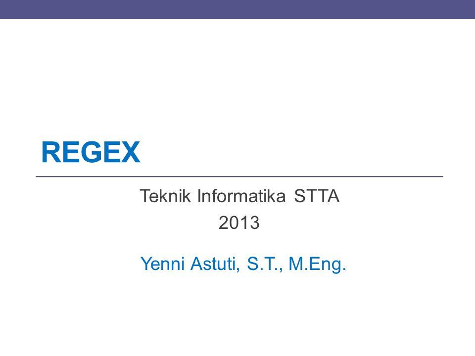 Teknik Informatika STTA 2013