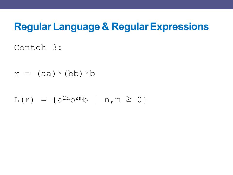 Regular Language & Regular Expressions